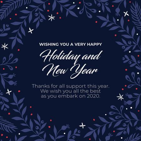 Season's Greetings and Christmas Closure Dates